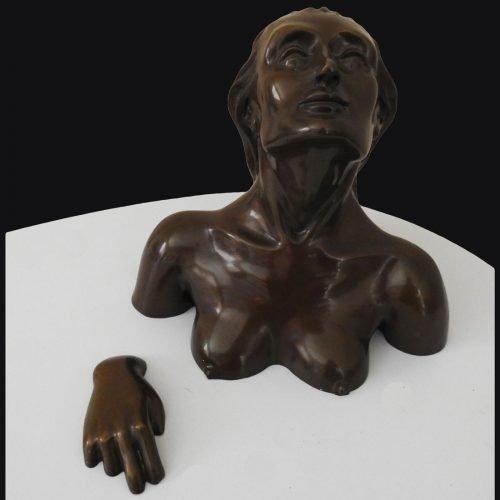 Escultura pequeño formato Bañista