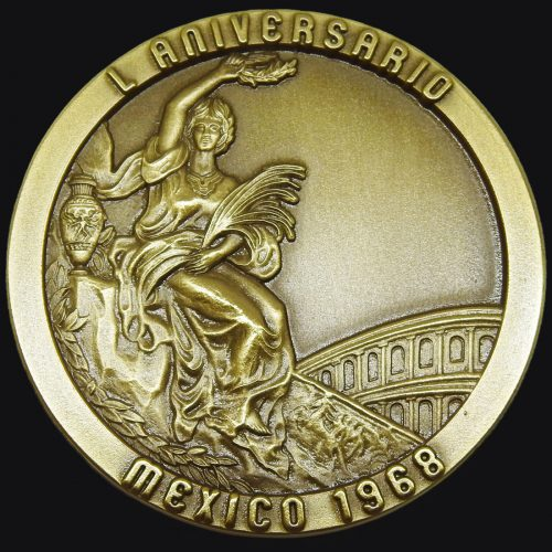 Medalla Deportiva Olimpiadas Mexico